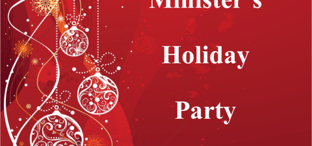 Minister's Holiday Party